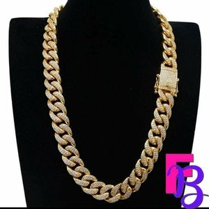 13mm 18k Gold Iced Cuban Necklace